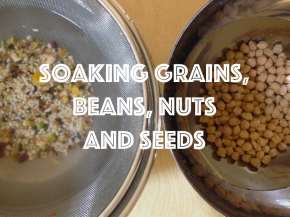Soaking Beans, Grains, Nuts & Seeds