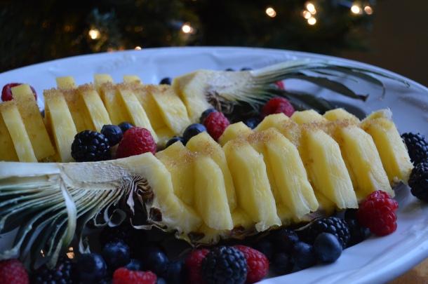 Beautifully sliced pineapple